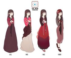 Character Outfits, Character Art, Character Design, Japan Fashion, Fashion Art, Traditional Dresses, Traditional Art, Easy Canvas Art, Korean Hanbok