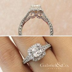 Promise and commitment.   #GabrielCoRetailer #GabrielNY #GabrielCoRetailer #EngagementRings #Ring #RingGoals #BrideToBe #BrideToBride #TrueLove #FineJewelry  Style: ER12827C4T44JJ  http://www.junikerjewelry.com/designer-jewelry/gabriel-and-co