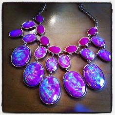 Talk about Statement pieces :-) Sold before we could even bring it out to the shop floor :-) Necklace in iridescent Purples... or is it Pinks ?? :-)   @Aaraa Accessories