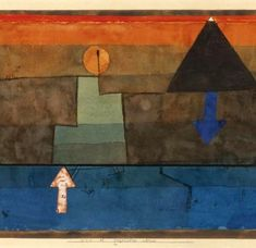 Klee, Paul (1879-1940) - 1924-25 Contrasts in the Evening - Blue and Orange (Sotheby's New York, 2008)   by RasMarley