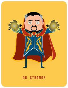 ilustraciones50 heroes ilustrados por Adam Thompson