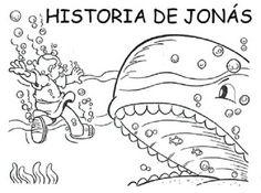 Historia bíblica de Jonás para colorear ~ RECURSOS PARA LA ESCUELA DOMINICAL