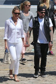 Pin for Later: Can't-Miss Celebrity Pics!  Cameron Diaz and Benji Madden held hands as they headed to the airport in Beaulieu-sur-Mer, France, on Saturday.