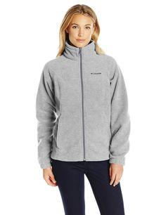 2b1f3e9a100a Columbia Women s Petite Benton Springs Full Zip Fleece Jacket - Small -  Light Grey Heather.