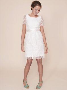 Simple Lace Summer Wedding Dress