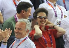 LOCOG Chair Lord Sebastian Coe and Princess Anne, Princess Royal enjoy the atmosphere as they watch the Track Cycling on Day 11 of the London 2012 Olympic Games
