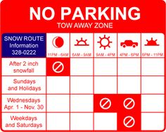 An idea for a revised parking sign system.