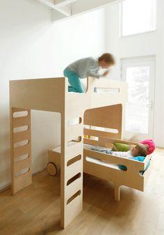 F Bunk bed: moderno y funcional concepto de literas @Rafa Kids #niños