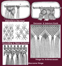 macrame knots basket - Google Search