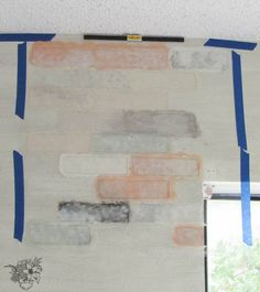Brick Stencil Feature Wall Looks So Real You Won't Believe Its Paint | Hometalk