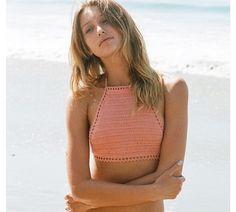 Close up of bikini top