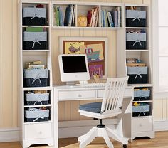 Madison Wall Desk w/ Small Cabinet & Hutch | Pottery Barn Kids