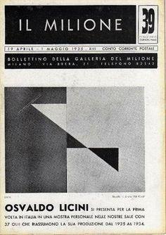 LICINI Osvaldo, Osvaldo Licini. Milano, Galleria del Milione, 1935.