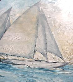 Rendered in soft shades of grey with hints of blue, these sailboats are reflected in the calm waters of a sea. This piece of art will infuse a relaxing ambiance into any setting. Sailboats This is a recreation of a piece which was already sold. Several sizes are available. Please use drop