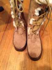 The North Face Womens Primaloft 200 Tan Brown Insulated Winter Snow Boots Sz 9.5