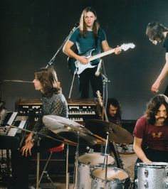 """soundsof71: """" pinkfloyded: """" Pink Floyd filming the studio sections of Live at Pompeii 1971 from the book Pink Floyd- The Black Strat """" Paris, December 13-20, 1971. """""""