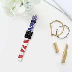 USA FLAG by Allison Reich @casetify casetify.com/allisonreich USE CODE: R7RAGW & GET DISCOUNT! #casetify #applewatchband #watchband #applewatch #flag #USA #american #americanstyle #accessories #4thofjuly #cute #redwhiteandblue #love #xoxo