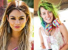 Neon hair, bold lips, bindis, braids and flower crowns have taken center stage at this year's