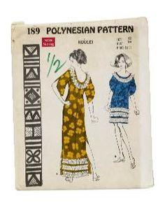 1960's Womens Hawaiian Sewing Pattern - Polynesian Pattern 189