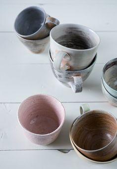 Beautiful ceramic cups by Joergen Hansen.