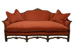 Vintage Finds | One Kings Lane..19th-C Chinese Chippendale Style sofa..