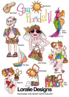 Sew Florida II Embroidery Design Collection CD by loraliedesigns, $59.00