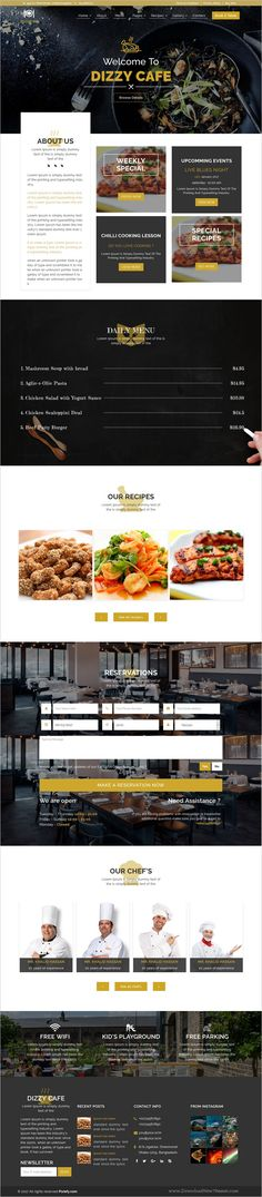Dizzy cafe is a wonderful responsive #HTML bootstrap template for #restaurants, #cafe and #bar websites download now➩ https://themeforest.net/item/dizzy-cafe-responsive-restaurantcafe-site-template/19363689?ref=Datasata