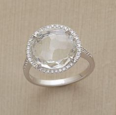 Suzanne Kalan's white topaz Sheer Shine Ring