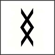 "Inguz, viking symbol means ""where there is a will, there is a way"" I found this symbol one day, forgot wha it meant and I have been looking for it forever! Finally found out yay!(:"