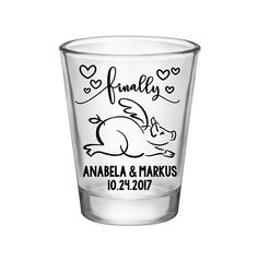 """100x Personalized Shot Glasses Funny Wedding Favors 