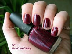 OPI Dark Red Mrs. O'Leary's BBQ