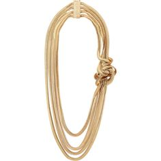 Rosantica Mamba gold-tone necklace ($238) ❤ liked on Polyvore