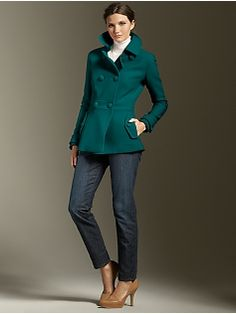 Browse our modern classic selection of women's clothing, jewelry, accessories and shoes. Talbots offers apparel in misses, petite, plus size and plus size petite. Marchesa, Talbots, Wardrobe Organiser, What To Wear, Teal, Plus Size, Pea Coat, Couture, Clothes For Women