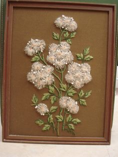 Vintage Dandelion Crewel Embroidery Wallhanging by fififabfinds, $22.00