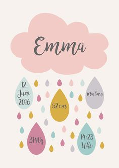 Portrait of a child with birth dates. Please provide this information: name date of birth height weight place of birth time. A nice gift for the birth or Baby Muffins, Baby Posters, Diy Bebe, Baby Frame, Birth Gift, Baby Born, Baby Party, Baby Hacks, Baby Crafts