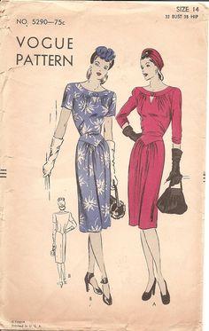 Ilustrações modelos de roupas retrô - Vintage Patterns Wiki