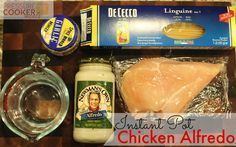 Instant Pot Chicken Alfredo - Never thought I could put uncooked pasta in the cooker!