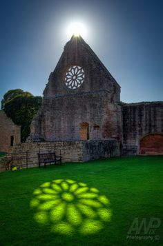 Sunlit reflection ~ Dryburgh Abbey, Scotland