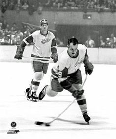 Gordie Howe slap shot, look at the stick bend. He was the best all around hockey player ever