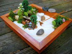 Deluxe Miniature Zen Garden by happyliltree on Etsy, $142.00