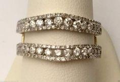 14k Yellow Gold Solitaire Enhancer Round Diamonds Ring Guard Wrap Jacket (1.00ct. tw).…#gold #diamonds #ringguard #wrap #enhancer #fashion #jewelery #love #gift #ringjacket #engagement #wedding #bridal #engaged #whitegold #yellowgold #online #shopping #jewelry #pintrest #follow #richmondgoldanddiamonds