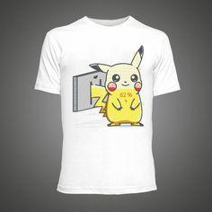 dcc79c39 Cool Pokemon Pikachu women t shirts fashion 2016 Summer funny White hip pop  t-shirt anime Cartoon tee shirt homme de marque