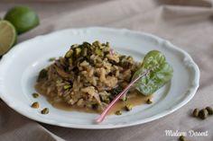 In der Ruhe liegt der Geschmack! Dieses aromatische #Steinpilzrisotto mit #Mangold, Parmesan & Pistazien ist das perfekte Spätsommergericht!