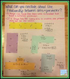 Use index cards to form different shapes and practice perimeter and area, and find relationships between the two . Perfect activity for finding missing measures or finding the area of irregular shapes.