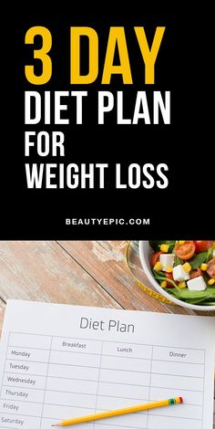The 3 Day Diet Plan for Weight Loss