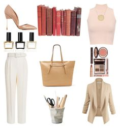 """Stopped By The Office"" by bebe-gawddess ❤ liked on Polyvore featuring Emilia Wickstead, WearAll, Kurt Geiger, Vince Camuto, ESSEY, Balmain and Charlotte Tilbury"
