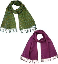Cotton Ikat Woven Scarf at Global Girlfriend