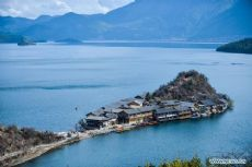 Beautiful scenery of Lugu lake in Yunnan Province