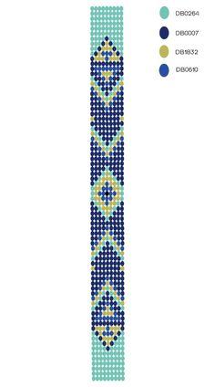 DIY - motif bracelet perles Plus Loom Bracelet Patterns, Seed Bead Patterns, Bead Loom Bracelets, Woven Bracelets, Beaded Jewelry Patterns, Weaving Patterns, Diy Bracelets How To Make, Homemade Bracelets, Seed Bead Crafts