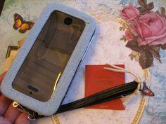 New Mossimo Denim Black Mustache Phone Case Tech Wallet Wristlet | eBay